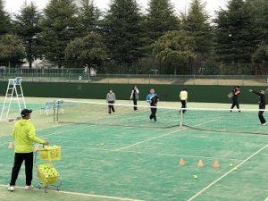 初心者テニス教室の様子01