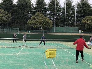 初心者テニス教室の様子02