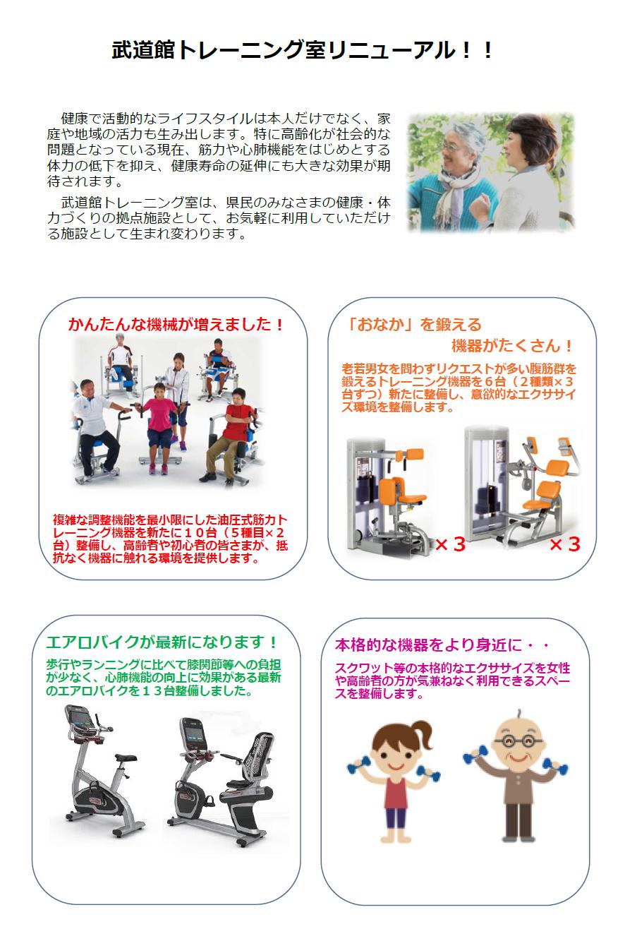 武道館トレーニング室リニューアル!!